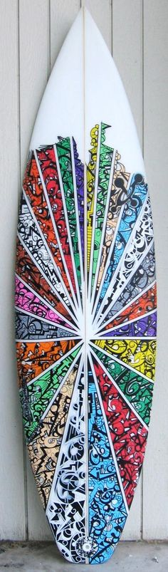 surfboard art by Collective Artist Coper. Brb. Gonna go buy a surfboard & a buttload of sharpies.
