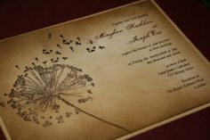 Handmade invitations.. Love these..