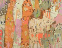kore all | 33x42in acrylic paint, watercolor crayon, ball po… | Flickr