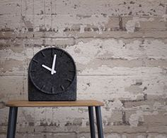 Use of felt on your table clock looks amazing!
