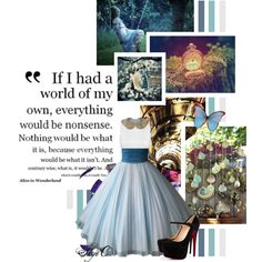 Alice - Disney's Alice in Wonderland by rubytyra on Polyvore featuring Christian Louboutin, Once Upon a Time, disney, aliceinwonderland and disneybound