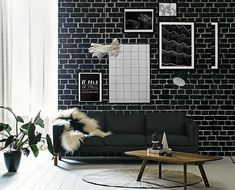 Photo by Felix Forest for Real Living Magazine Living Room Decor On A Budget, Living Room Sets, Home Living Room, Real Living Magazine, Black And White Living Room, Modern Crib, Black And White Wallpaper, Decoration, House Styles