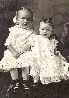 Sisters in eyelet.