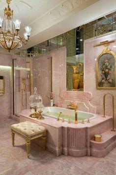 Dream Home Design, Home Interior Design, House Design, Mansion Interior, 1980s Interior, Palace Interior, Vintage Interior Design, Dream Bathrooms, Dream Rooms