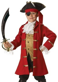 new kids pirate captain hook boys halloween costume 10