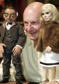 Gerry Anderson with Lady Penelope and Parker.