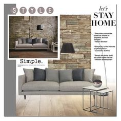 """""""Let's Stay Home"""" by cruzeirodotejo ❤ liked on Polyvore featuring interior, interiors, interior design, home, home decor, interior decorating, WALL, Two Square, Broste Copenhagen and CO"""