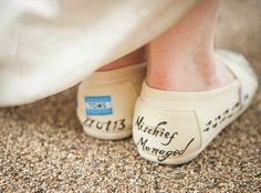 """Or these customized TOMS. 