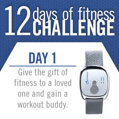 On the first day of fitness, we challenge you to inspire a loved one to live their most fit life by giving the gift of fitness! When you hit the mall this holiday season to check items off your fitness gift list, burn some calories by taking the stairs between shops and parking further away from your favorite store! @American Council on Exercise