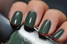 """Dupe: Avon Olive Green, a well-known dupe for Rescue Beauty Lounge Orbis Non Sufficit. """"The formula is seriously to die for. A 1 coater, but I did 2 for the pics. I really like the brushes on these Avons: they are larger than normal, but not huge like Sally Hansens or OPIs. They are a similar shape, but about 2/3 the size. I definitely recommend getting this polish."""" Swatch and review by Spaz & Squee."""