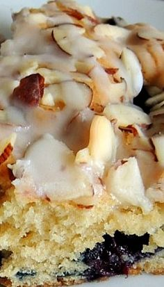 Blueberry Almond Coffee Cake This is so amazing!!!!! Super Moist - and tasty - didn't even put on the glaze and loved.