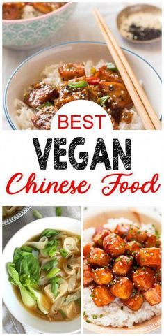 9 Vegan Chinese Food recipes you DO NOT want to miss! Easy and delicious vegan Chinese Food ideas perfect lunch or dinner on a vegan diet. If your New Year's resolution is to eat healthy try the vegan lifestyle and these vegan Chinese Food recipes. Vegan Crockpot Recipes, Healthy Diet Recipes, Vegetarian Recipes, Healthy Food, Dinner Healthy, Vegetarian Lunch, Delicious Recipes, Beef Recipes, Easy Recipes