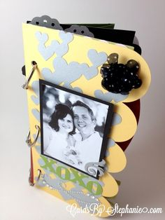 Make a quick, simple mini scrapbook album & coordinating card with the new Artbooking Cricut cartridge from Close to My Heart! Here's my video tutorial - via www.cardsbystephanie.com