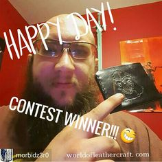 Awesome!The recent wallet winner was kind enough to send a picture to share. 💕 keep an eye out for more instagram  #contests ! WorldofLeathercraft.com   #winner #contestagram #drawing #prize #giveaway #darthvader #starwars #geek #nerd #leather #etsy #art