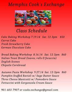 Cooking Classes Pop Up at Three #Memphis Venues