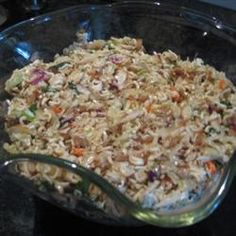 Asian Coleslaw with Ramen Noodles - first made for K's baby shower