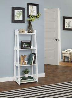 Available in 5 and 6 shelf options, ClosetMaid bookcases come in two colors and are easy to assemble. Add stylish storage to any area of your home. Nursery Bookshelf, Ladder Bookshelf, Narrow Shelves, Wood Shelves, Business Furniture, Home Furniture, Furniture Ideas, Home Living Room, Living Room Decor