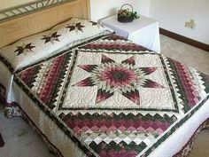 Lone Star Trip Quilt -- splendid made with care Amish Quilts from Lancaster (hs1617)