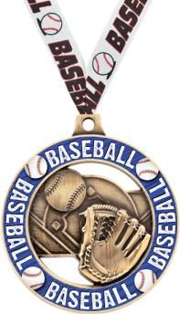 This #Baseball #Medal Is The Perfect Way To Award Your Winners. http://www.crownawards.com/StoreFront/CM70BBRG.ALL.Medals-Dogtags.2%22_Baseball_Sport_Rimz_2.0_Medal.prod