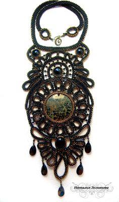Design of the day – necklace Black Eyes by Natalia Zolotova