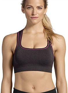 8264b0c445 Jockey Women s Melange Pop Push up Seam Free Sport Bra