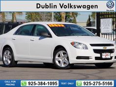 2012 Chevrolet Chevy Malibu LS Call for Price 51776 miles 925-384-1095 Transmission: Automatic  #Chevrolet #Malibu #used #cars #DublinVolkswagen #Dublin #CA #tapcars