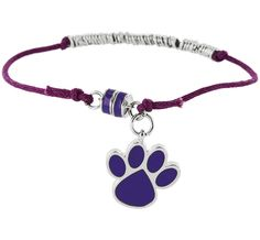 Purple Paw Ringed Bracelet at The Animal Rescue Site