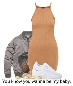 """""""2/8"""" by trillgolddfashionn ❤ liked on Polyvore featuring adidas Originals and Maison Margiela"""