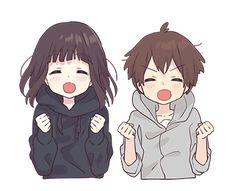 My sister & I Gifs Kawaii, Chat Kawaii, Kawaii Chan, Loli Kawaii, Kawaii Anime Girl, Anime Art Girl, Dibujos Anime Chibi, Cute Anime Chibi, Anime Neko