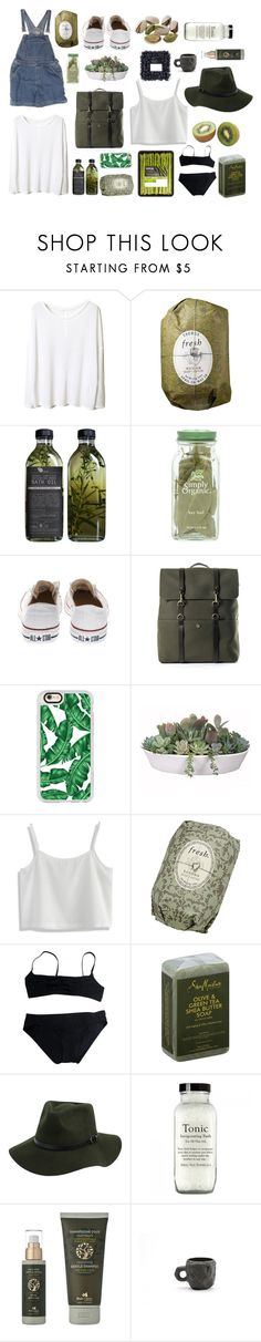 """""""Clean"""" by alysonalyza ❤ liked on Polyvore featuring Fresh, Converse, Mismo, Casetify, VesseL, Chicwish, Eres, SheaMoisture, Panier des Sens and 1882 Ltd."""