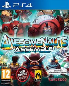 Conflict spans the stars as huge robot armies are locked in an enduring stalemate. In their bid for galactic supremacy, they call upon the most powerful group of merce¬naries in the universe: the Awesomenauts!  Publisher: Soedesco Developer: Ronimo Games Platform: PS4 Genre: Action Release Date: 30/01/2015 #videogames #action #PS4