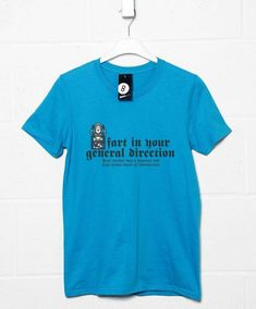 Inspired By Monty Python Men's T Shirt - Rude Frenchman - Sapphire / 2XL