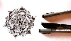 #flower #mandala #illustration #blackandwhite