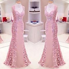 Mtoo Lindoo!!! #dress #rose #lace #byisabellanarchi #isabellanarchicouture Dinner Gowns, Evening Dresses, Elegant Dresses, Beautiful Dresses, Formal Dresses, Pink Prom Dresses, Cute Dresses, Pink Skirts, Prom Dresses With Pockets