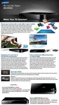 Samsung Blu-ray Disc Player BD-H5500