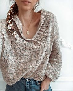 Ravelry: Jumper Sailor pattern by Olga Grishina Jumper Knitting Pattern, Jumper Patterns, Loom Knitting, Knitting Patterns, Knit Fashion, Fashion Looks, Lookbook, Knitting Designs, Crochet Clothes