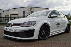 #Volkswagen #Golf #GTi #Mk7 #Modified #Lowered #WideBodyFlares