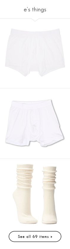 """e's things"" by jackfairy ❤ liked on Polyvore featuring men's fashion, men's clothing, men's underwear, white, mens boxer briefs, mens white boxer briefs, mens cotton boxer briefs, intimates, panties and underwear"