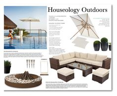 """""""Houseology Outdoors"""" by signaturenails-dstanley ❤ liked on Polyvore featuring interior, interiors, interior design, home, home decor, interior decorating, Skyline, Skagerak, AK47 and NKUKU"""