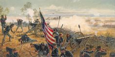 "[by Dale Gallon] ""Gettysburg, PA, July 3, Pickett's Charge"""