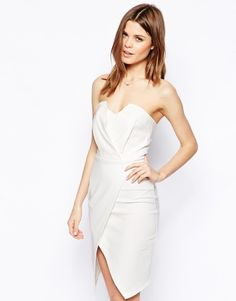 ASOS | ASOS Bandeau Wrap Dress at ASOS