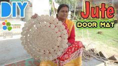 DIY Handmade Jute Door Mat || Make at home very easily|| #Jute DIY,Rug - YouTube