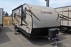 2016 New Forest River CASCADE Travel Trailer in Washington WA.Recreational Vehicle, rv, 2016 FOREST RIVER CASCADE, This new 2016 Forest River Cascade 23QBC is equipped with a cozy sleeper sofa, lots of overhead cabinets and an interior stereo system. In addition, there is a booth for dining, entertaining and additional sleeping quarters. The kitchen is equipped with a high gloss seamless counter top, deep pantry for storage, double bowl under-mount sink, drop in cook top with a Pyrex glass…