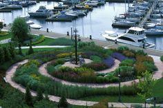 The Toronto Music Garden, created in collaboration with Yo-Yo Ma. Brilliant.