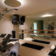 Basement Gym Design, Pictures, Remodel, Decor and Ideas - page 14