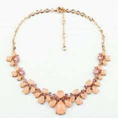 $8.18 Vintage Diamante Colored Faux Gemstone Embellished Women's Necklace