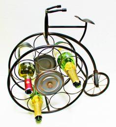 Antique Style Bicycle Wine Bottle Holder Rack Decor Designer Quality 3291 : Amazon.com : Kitchen & Dining