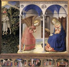 Fra Angelico, The Annunciation, 1430-32, tempera on wood, 194 x 194 cm (Museo del Prado, Madrid)