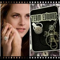 "Bella Swan ""Twilight"" Saga Authentic Engagement Ring & Keychain Set! New!"