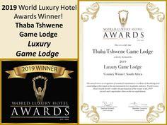 2019 World Luxury Hotel Award Winner! Hotel Games, Game Lodge, Wine Parties, Award Winner, Awards, Luxury, World, Villa, The World